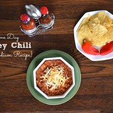 Low Sodium Turkey Chili