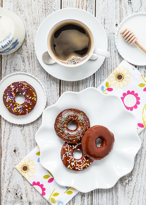 Eggless Chocolate Donuts