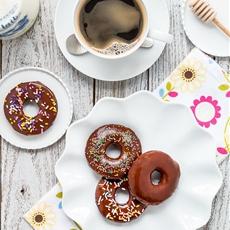 Eggless Chocolate Donuts