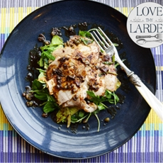 Roast Loin of Pork Salad with Lemon & Capers.