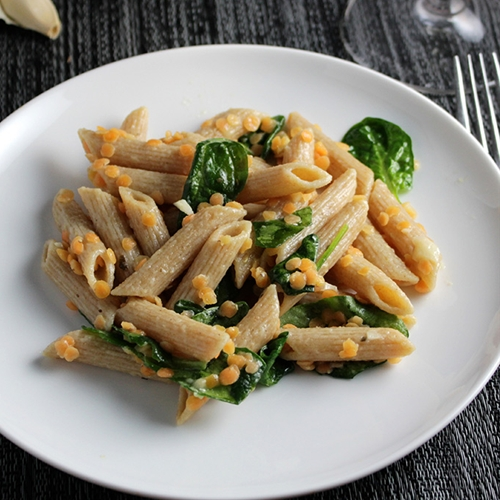 Penne with Red Lentils and Ginger for #WeekdaySupper
