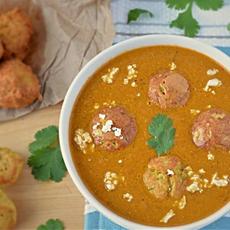 Kofta Curry prepared with non fried Koftas