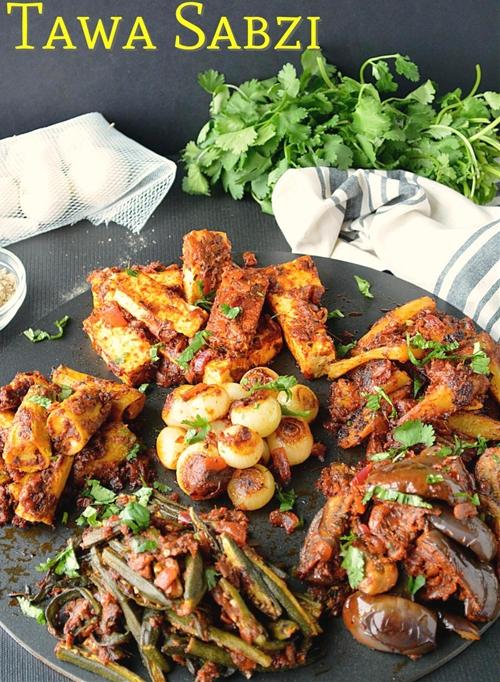 Tawa Sabzi or Tava Fry Veggies