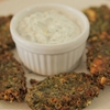 Fennel fritters with yogurt dip