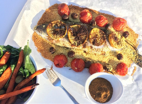 Parchment Roasted Egyptian Spiced Bronzini
