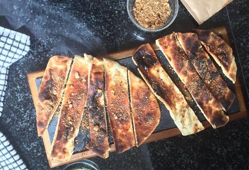 Toasted Flatbread Hazelnut Dukkah