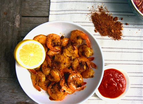 GRILLED SHRIMP WITH BALTIMORE BAY SPICES, GARLIC & LEMON