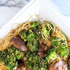 Shiitake & Broccoli Noodles