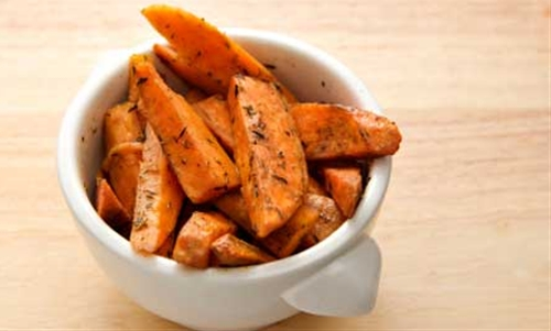 Garam Masala Spiced Sweet Potato Wedges