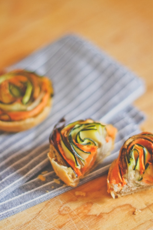 Vegetable Spiral Mini Tarts
