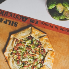Brussels Sprouts and Lardons Galette