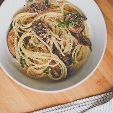 Vegan Spaghetti with Mushrooms