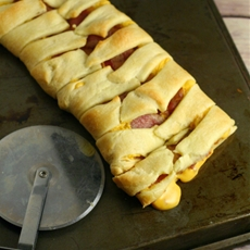 Bacon Grilled Cheese Braid