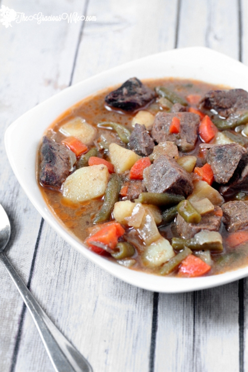 Slow Cooker Cider Beef Stew