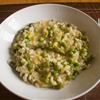 Asparagus Lemon Mint and Pea Risotto
