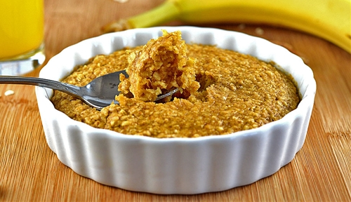 Easy Vegan Baked Pumpkin Spice Oatmeal