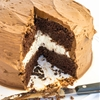 Chocolate Cake Layered with Vanilla Cream