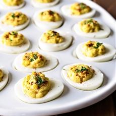 Crunchy Deviled Eggs