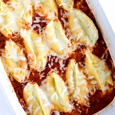 Ricotta Stuffed Shells with Marinara