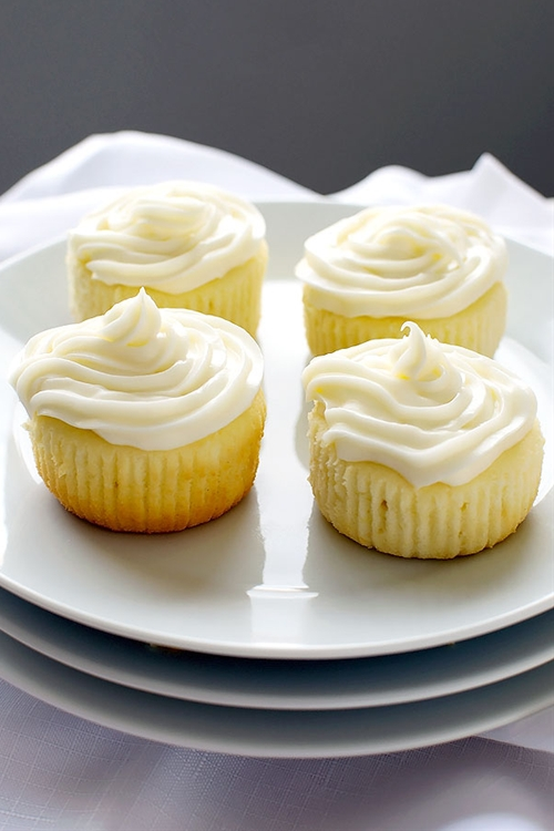 Limoncello Cupcakes with Limoncello Frosting