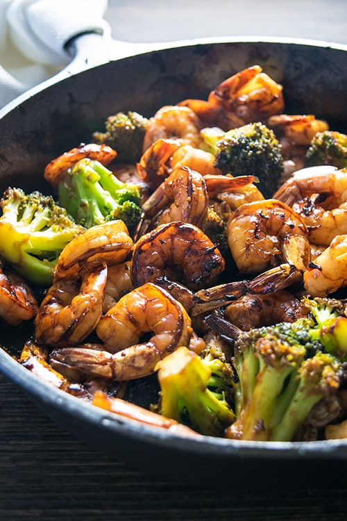 Honey Garlic Shrimp and Broccoli