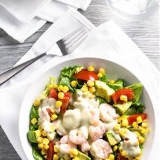 Shrimp Salad with Creamy Pesto Dressing