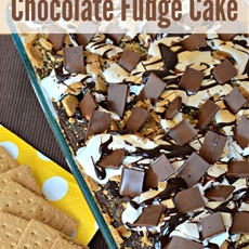 Smores Chocolate Fudge Cake