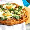 Crispy Shredded Sunchoke Pizza with Goat Cheese and Fried Eggs — Krist