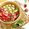 Farro with Strawberries, Avocado and Orange Coconut Dressing