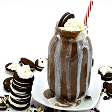 Ultimate Cookies and Cream Milkshake with Homemade Cookie Butter