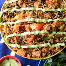 Black Bean Fajita Bowls with Avocado Sauce — Kristins Kitchen