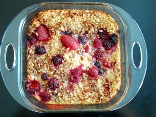 Baked Berry Oatmeal