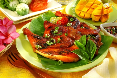 Grilled Chicken with Mango