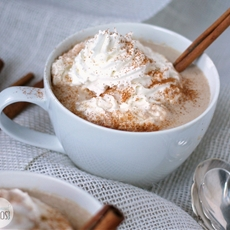 Slow Cooker White Chocolate Cinnamon Hot Chocolate