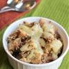 Slow Cooker Apple Crisp with Warm Vanilla Sauce