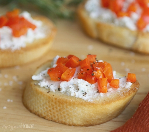 Crusty Herbed Crostini Appetizer