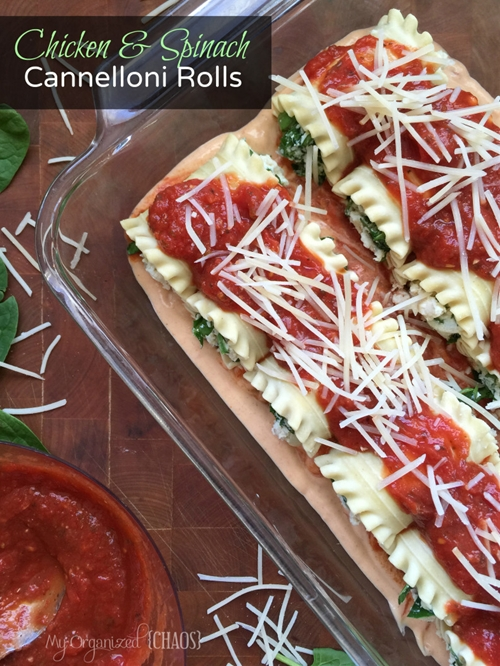 Chicken And Spinach Cannelloni Rolls