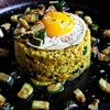 COUSCOUS with diced zucchini and fried eggs