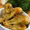 ROASTED CHICKEN DRUMSTICKS with white wine sauce