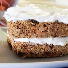 Low Calorie Carrot Cake (Gluten Free)