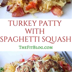 Turkey Patties with Spaghetti Squash