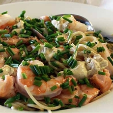 Salmon & Shrimp Pasta