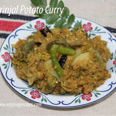 Brinjal Potato Curry