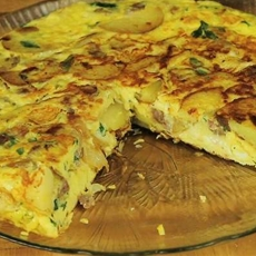 Vegetable Frittata with Chicken Garlic Sausage