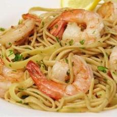 Lemon Noodle Pasta with Shrimp