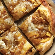Gruyere Pizza with Caramel Onion
