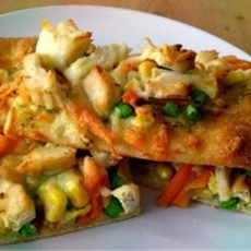 Pizza With Leftovers Vegetables