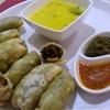 Sambharvadi(Coriander And Nuts Crispy Rolls)