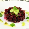 BEET TARTARE WITH AVOCADO CREAM