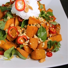 THAI KABOCHA SQUASH SALAD WITH WHIPPED COCONUT